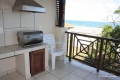 Private braai at Kubu Bali self catering apartment accommodation in Shelly Beach