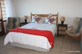 Main bedroom at 32 Summer Place self catering apartment in Shelly Beach on the KZN South Coast