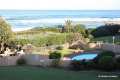 Garden view from 32 Summer Place self catering apartment in Shelly Beach on the KZN South Coast
