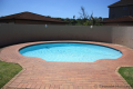 Swimming pool at Kuta Beach self catering accommodation in Ramsgate on the KZN South Coast