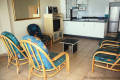 Living area at Strandloper self catering accommodation in Uvongo on the KZN South Coast.