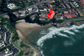 Satellite view of Strandloper self catering accommodation in Uvongo on the KZN South Coast.