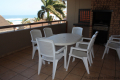 Balcony at Ibiza self catering holiday apartment in Margate on the KZN South Coast
