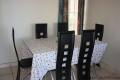 Dining area at Ibiza self catering holiday apartment in Margate on the KZN South Coast